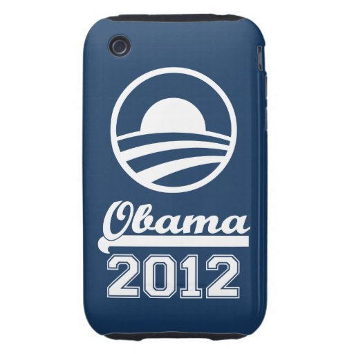 OBAMA 2012 iPhone 3 Tough Case-Mate (navy)
