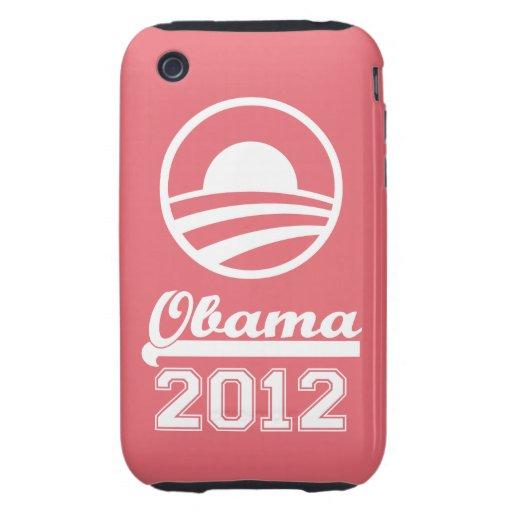 OBAMA 2012 iPhone 3 Tough Case-Mate (pink)