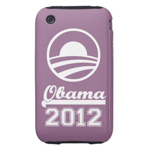 OBAMA 2012 iPhone 3 Tough Case-Mate (purple)