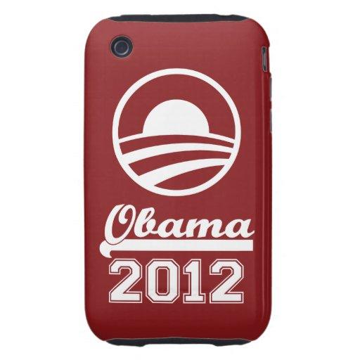 OBAMA 2012 iPhone 3 Tough Case-Mate (red)