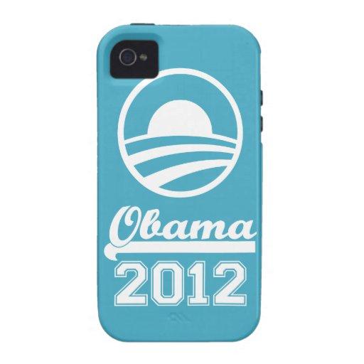 OBAMA 2012 iPhone 4 Tough Case-Mate (aqua) iPhone 4/4S Cases