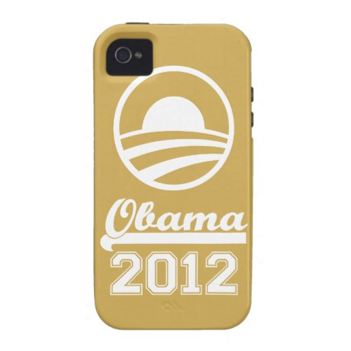 OBAMA 2012 iPhone 4 Tough Case-Mate (gold) Case-Mate iPhone 4 Covers