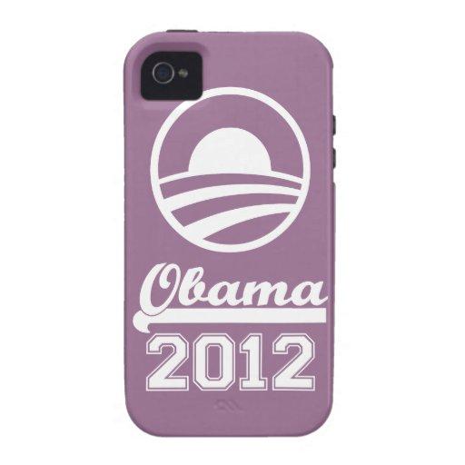 OBAMA 2012 iPhone 4 Tough Case-Mate (lilac) iPhone 4 Case