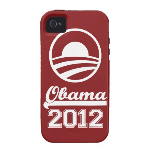 OBAMA 2012 iPhone 4 Tough Case-Mate (red) Case For The iPhone 4