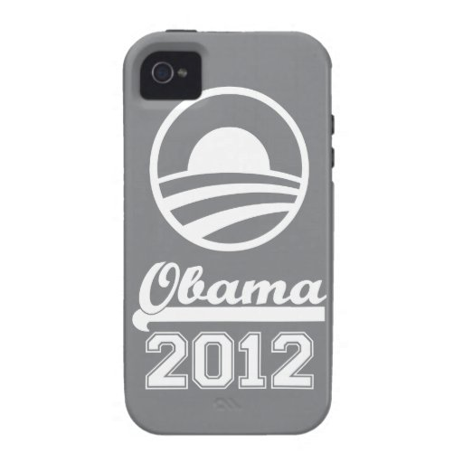 OBAMA 2012 iPhone 4 Tough Case-Mate (slate) Vibe iPhone 4 Cover