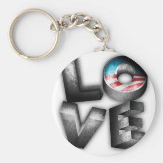 Obama 2012 L-O-V-E Basic Round Button Key Ring