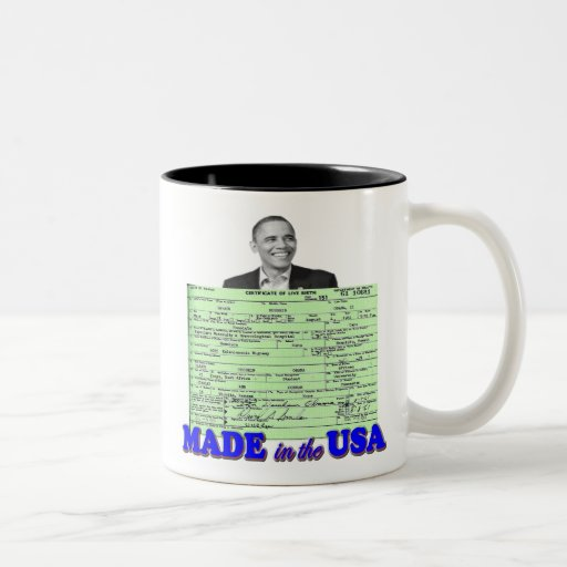 Obama 2012 Made in USA Two-Tone Mug