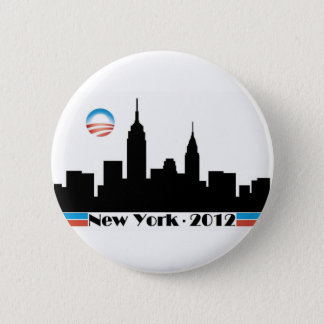 Obama 2012 New York City Skyline 6 Cm Round Badge