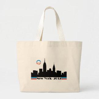 Obama 2012 New York City Skyline Jumbo Tote Bag