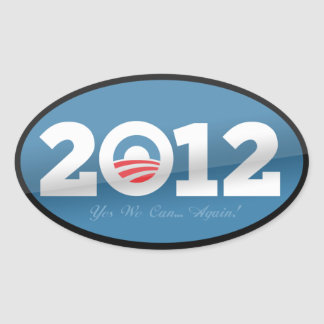 Obama 2012 Official Logo Oval Sticker