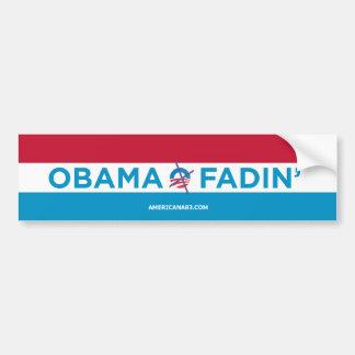 Obama 2012 (parody) The slow fade Bumper Sticker