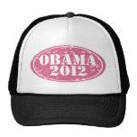 obama 2012 pink faded cap