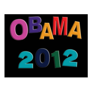Obama 2012 Refrigerator Alphabet Magnet Post Card