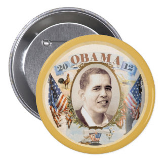 Obama 2012 Retro Style Pinback Buttons