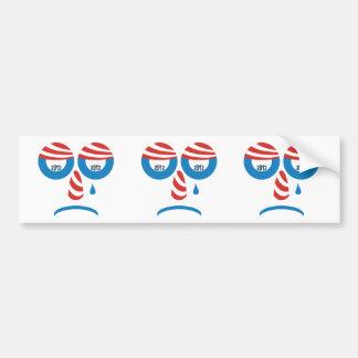 Obama 2012 Sad Face Bumper Sticker