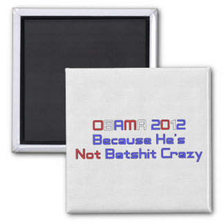 OBAMA 2012 SQUARE MAGNET