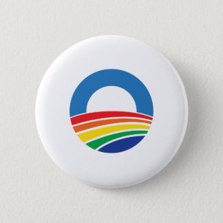 Obama 2012 Support for Gay Marriage 6 Cm Round Badge