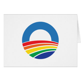 Obama 2012 Support for Gay Marriage Greeting Card