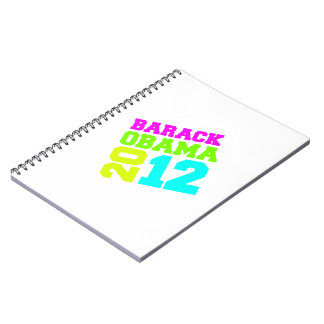 OBAMA 2012 SWAY NEON NOTEBOOKS