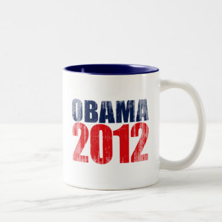 OBAMA 2012 Vintage.png Two-Tone Mug
