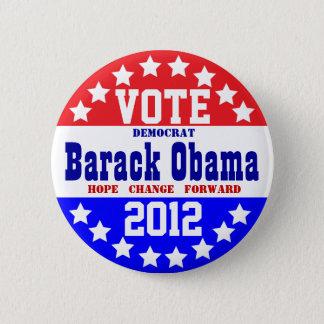 Obama 2012 (Vintage Style) 6 Cm Round Badge