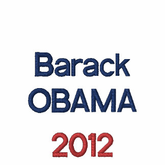 Obama 2012 with embroidered flag on left sleeve embroidered shirt