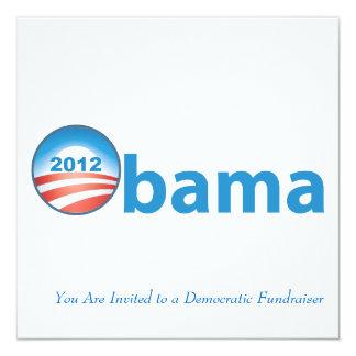 Obama 2012 With Obama Logo 13 Cm X 13 Cm Square Invitation Card