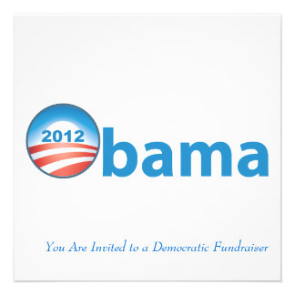 Obama 2012 With Obama Logo Custom Announcement
