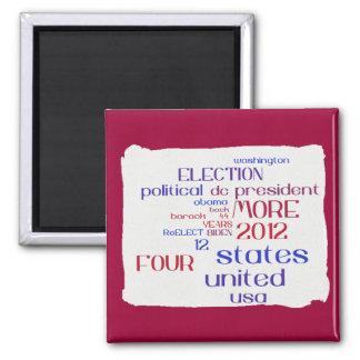 Obama 2012 Word Cloud Magnet