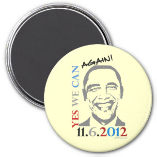 Obama 2012 Yes We Can Again Button Magnets