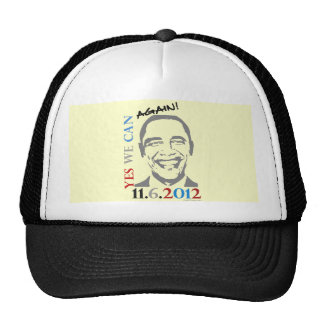 Obama 2012 Yes We Can Again Trucker Hat