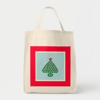 Obama 44 Christmas Shopping Tote Grocery Tote Bag