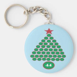 Obama 44 Commemorative Christmas Keychain