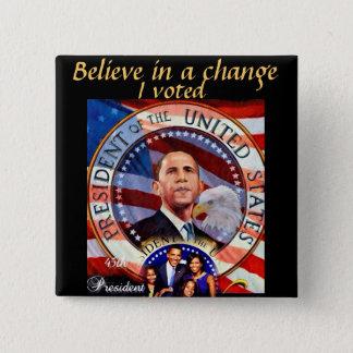 Obama,45th President of The United States_ 15 Cm Square Badge