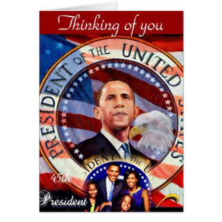 Obama,45th President of The United States_ Greeting Cards