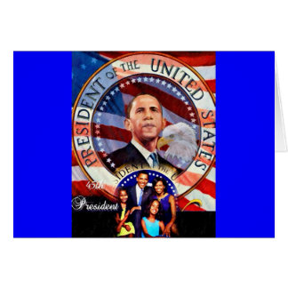 Obama,45th President of The United States_ Greeting Card