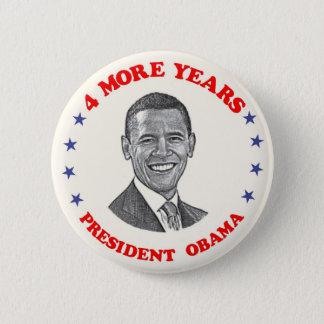 Obama 4 More Years 6 Cm Round Badge