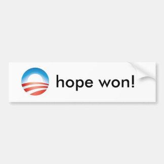 obama_4color_omark, hope won! - Customized Car Bumper Sticker