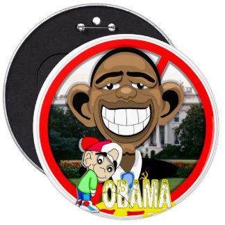OBAMA 6 CM ROUND BADGE