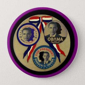 Obama, Abe, FDR & JFK 10 Cm Round Badge