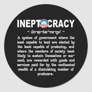 Obama Administration Ineptocracy Sticker