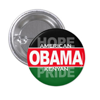 Obama -- American Hope, Kenyan Pride 3 Cm Round Badge