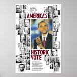 Obama: America's Historic Vote Poster