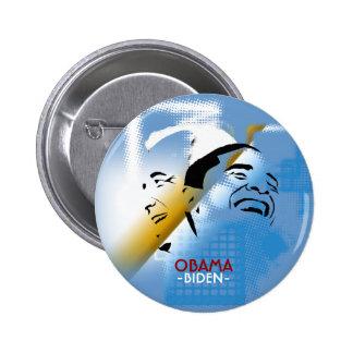 Obama and Biden 6 Cm Round Badge