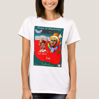 Obama and Queen Red Ink T-Shirt