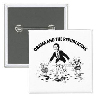 Obama and the Republicans 15 Cm Square Badge