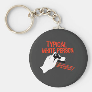 OBAMA APPROVED BASIC ROUND BUTTON KEY RING