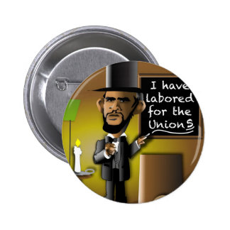 Obama as Lincoln for the Union(s) 6 Cm Round Badge