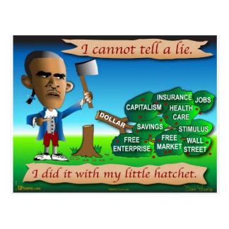 Obama as Young George Washington Postcard