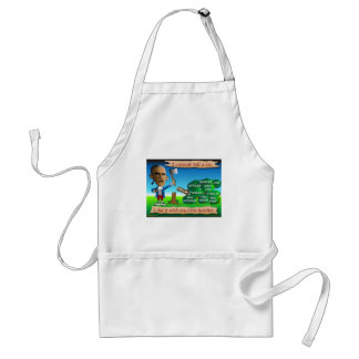 Obama as Young George Washington Standard Apron